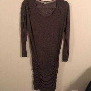 Athleta ruched dress size XS light brown/grey